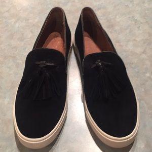 Frye black suede sneakers